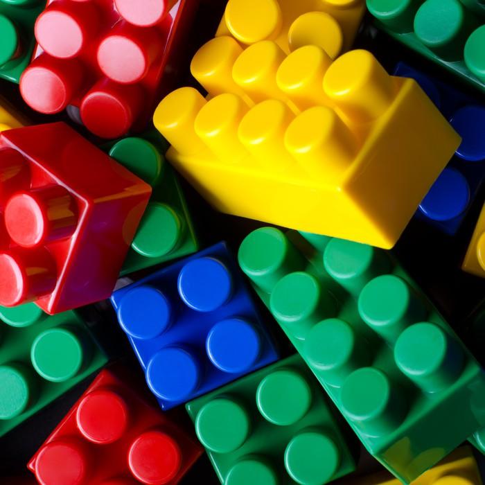 Vinilo pixerstick ladrillos de colores pixers vivimos - Ladrillos de colores ...