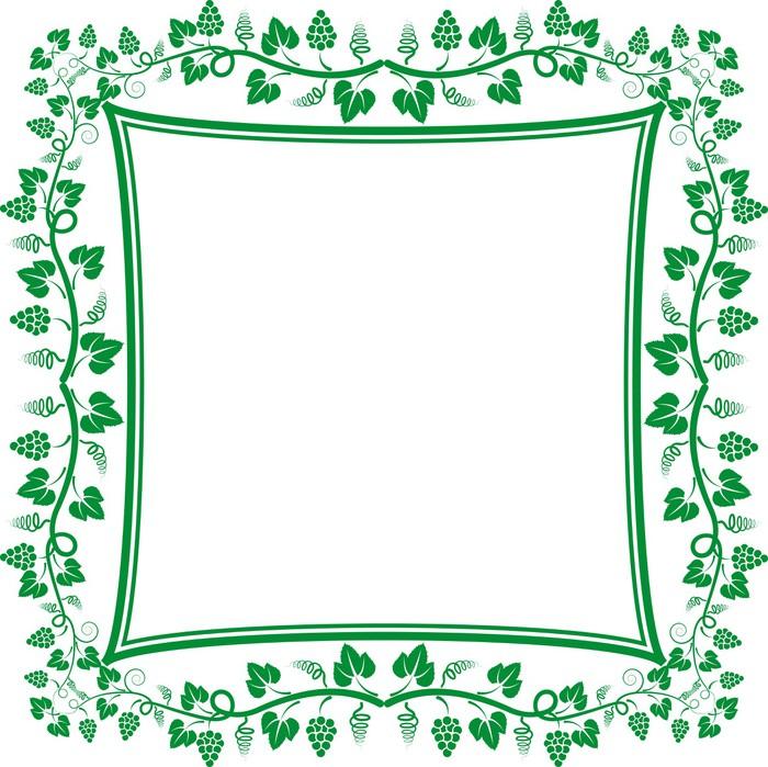 Aufkleber Reben Rahmen • Pixers® - Wir leben, um zu verändern