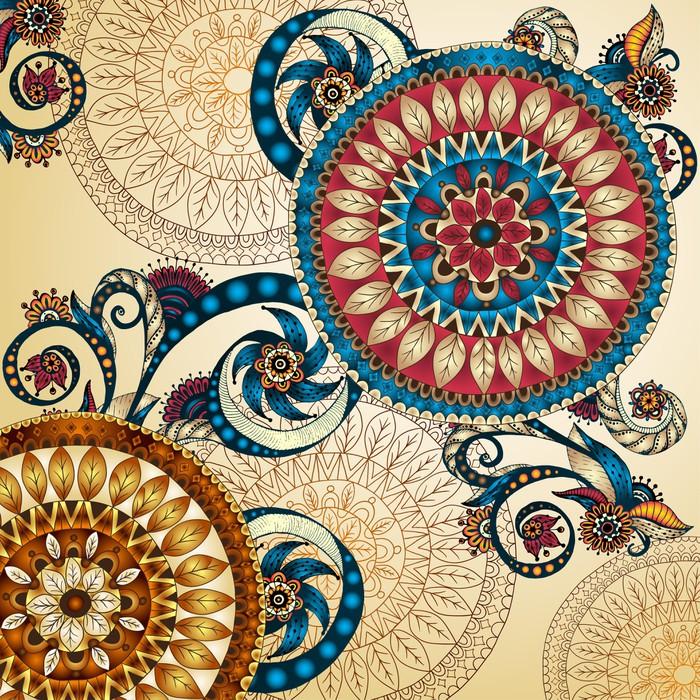 Carta da parati vector sfondo floreale decorativo for Carte parati decorative