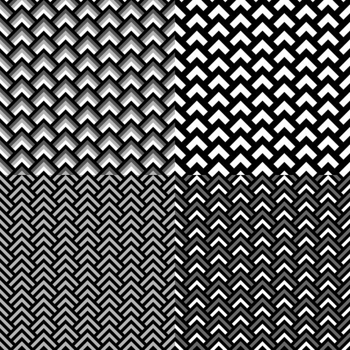 Vinylová Tapeta Černá a bílá geometrické čtverce bezešvé vzor set - Pozadí