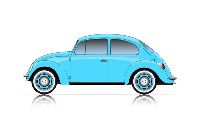 tableau sur toile voiture bleue compact pixers nous vivons pour changer. Black Bedroom Furniture Sets. Home Design Ideas