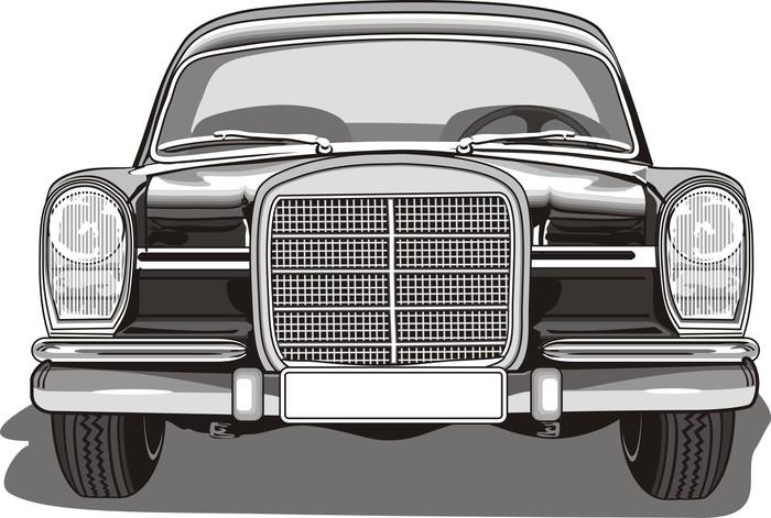 Vinylová Tapeta Staré auto Pohled zepředu - Na cestě