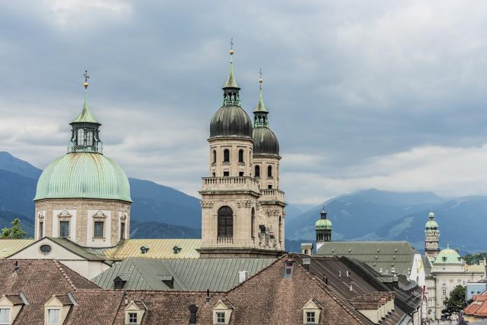 Vinylová Tapeta Katedrála svatého Jakuba v Innsbrucku, Rakousko. - Evropa