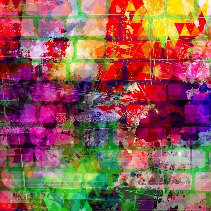Carta da parati grunge stile vernice colorata parete di for Carta da parati colorata