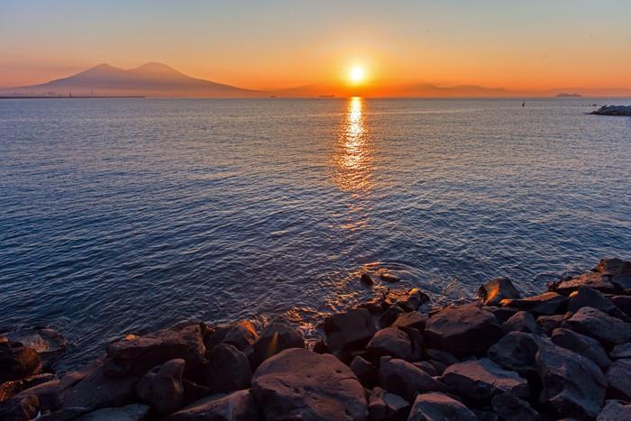Vinylová Tapeta Západ slunce Vesuvio - Hory
