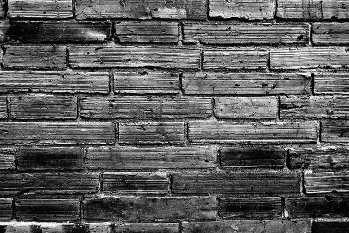 poster mur de briques en monochrome noir et blanc pixers nous vivons pour changer. Black Bedroom Furniture Sets. Home Design Ideas