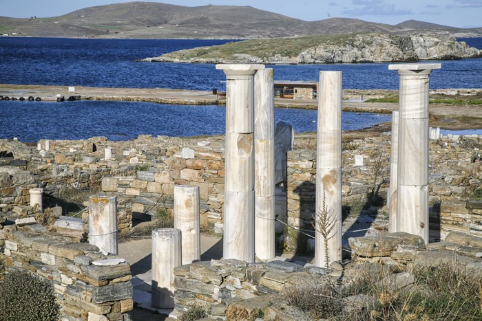 Delos Ruins Vinyl Wallpaper - Europe