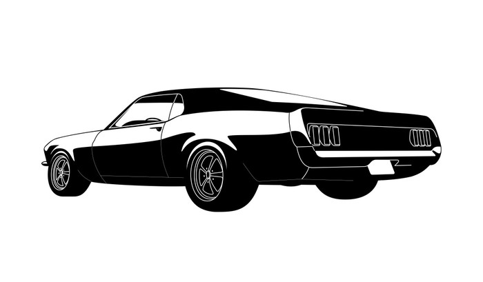 Muscle Car Wall Decal   Wall Decals