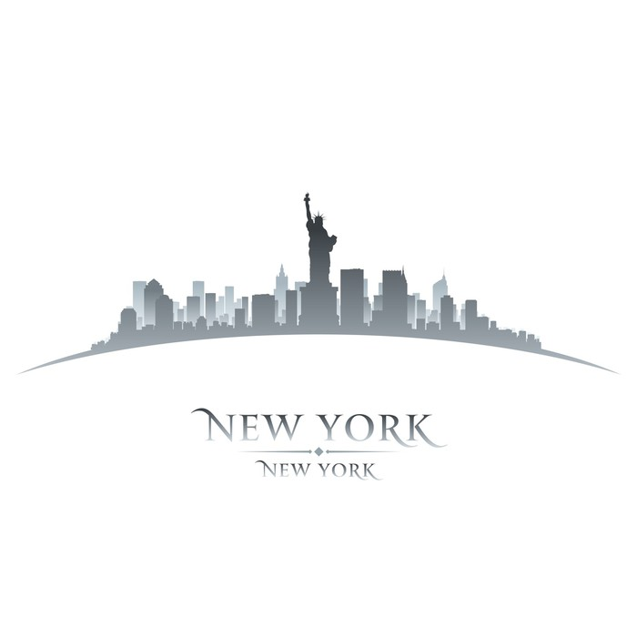Carta da parati new york skyline della citt silhouette for Carta da parati new york ebay