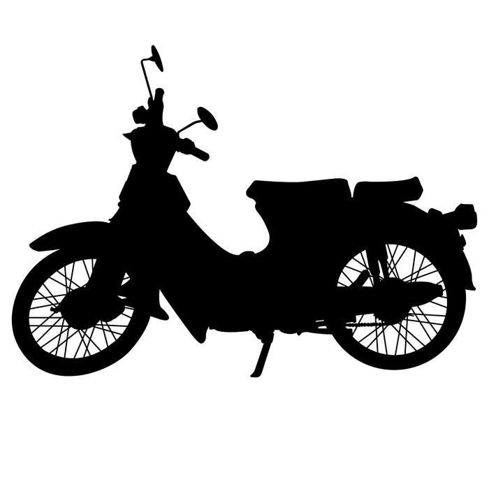 Vinylová Tapeta Vintage motocyklu silueta vektor - Na cestě