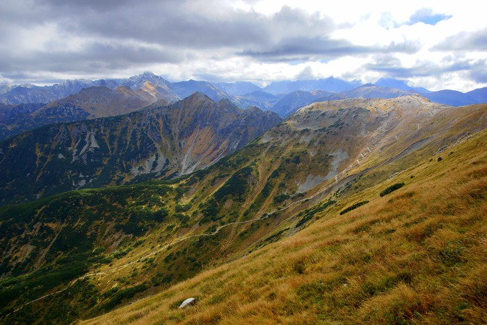 Vinylová Tapeta Red Mountain Peaks, Tatry hory v Polsku - Evropa