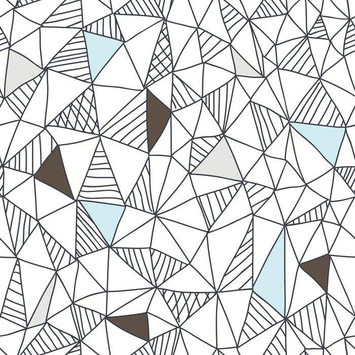 Nálepka na stůl a pracovní stůl Abstraktní bezešvé doodle vzor - Podnikání