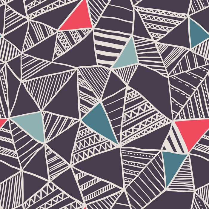 Adesivo per Tavolino Lack Abstract seamless pattern di doodle - Business