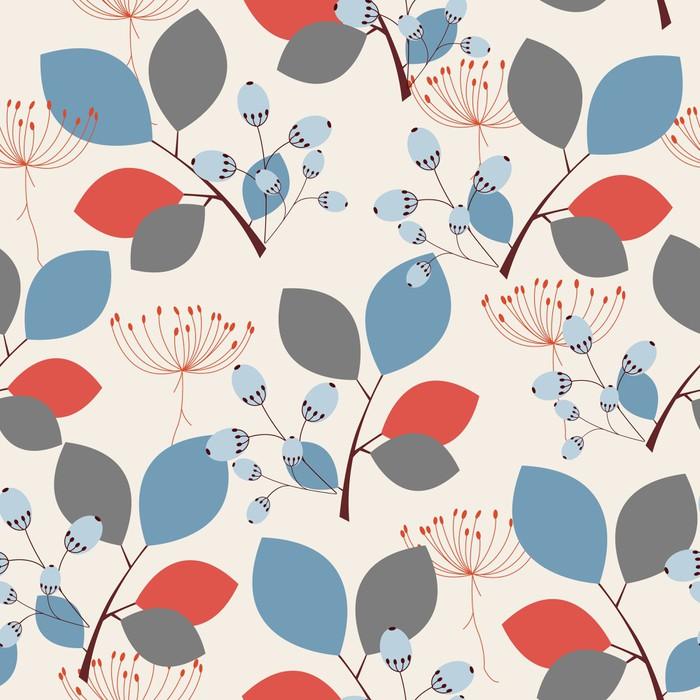 Vinylová Tapeta Elegantní květinové bezešvé vzor - Roční období