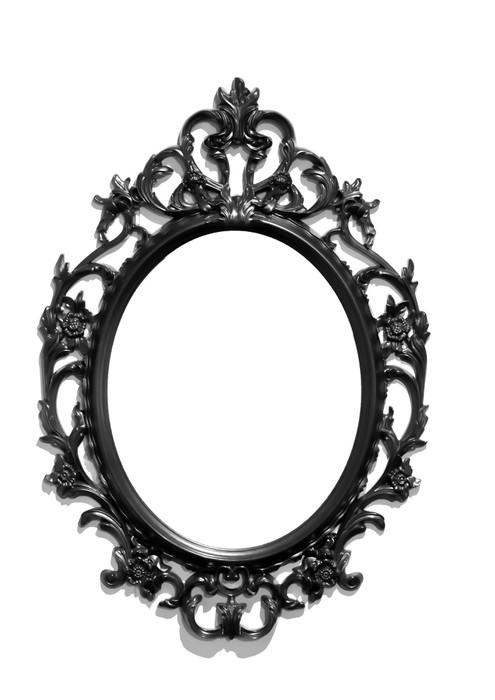 Carta da parati isolata nero vittoriano cornice dello specchio classica pixers viviamo per - Carta a specchio ...