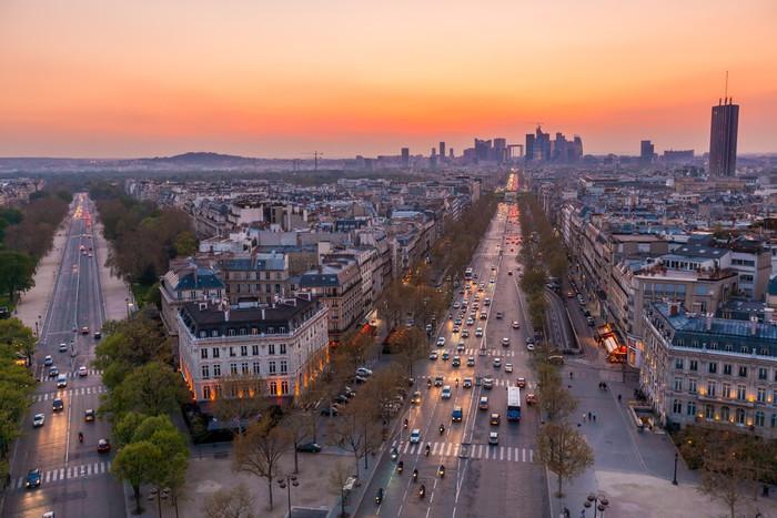 Vinylová Tapeta Paris Skyline - Evropská města