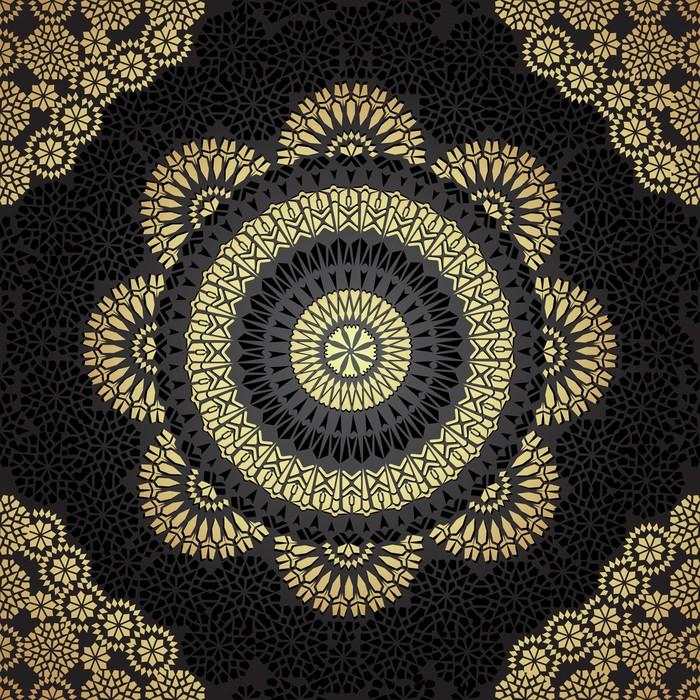 papier peint seamless dans le style ethnique mosa que pixers nous vivons pour changer. Black Bedroom Furniture Sets. Home Design Ideas