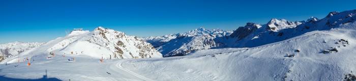 Vinylová Tapeta Meribel a Mont Blanc panorama - Evropa