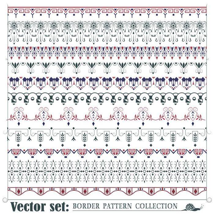 Fototapete Vector Reihe von abstrakten Elemente für das Erstellen ...