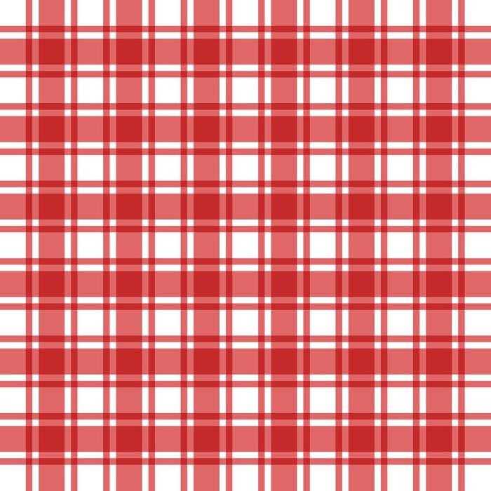 Vinylová Tapeta Pozadí vzoru jako červené kostkované - Jídla
