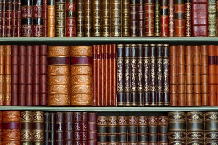 Vinylová Tapeta Stará knihovna historických pevný kryt knih na policích - Knihovna
