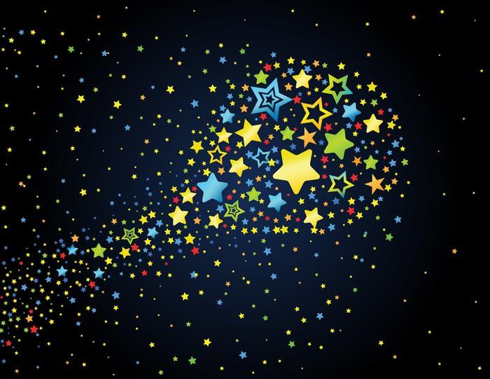 Vinylová Tapeta Cartoon hvězda barevné kometa - Témata