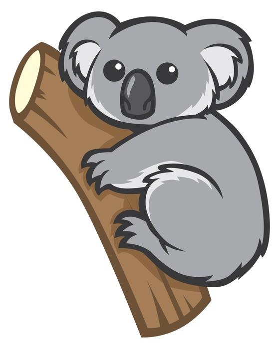 Nálepka Pixerstick Roztomilý koala na stromě - Oceánie