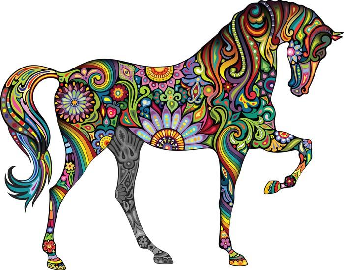 Vinylová Tapeta Veselý kůň - Nálepka na stěny