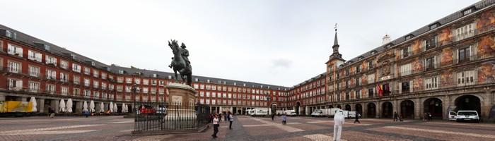 Vinylová Tapeta Panorama z malebného náměstí Plaza Mayor v Madridu, ve Španělsku - Evropská města