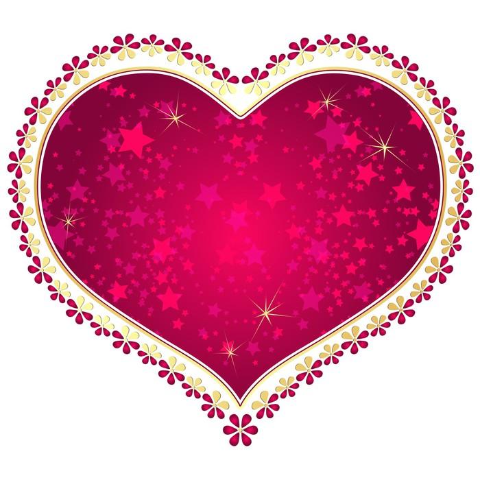 Fototapete Rot und Gold Vintage-Rahmen valentine • Pixers® - Wir ...