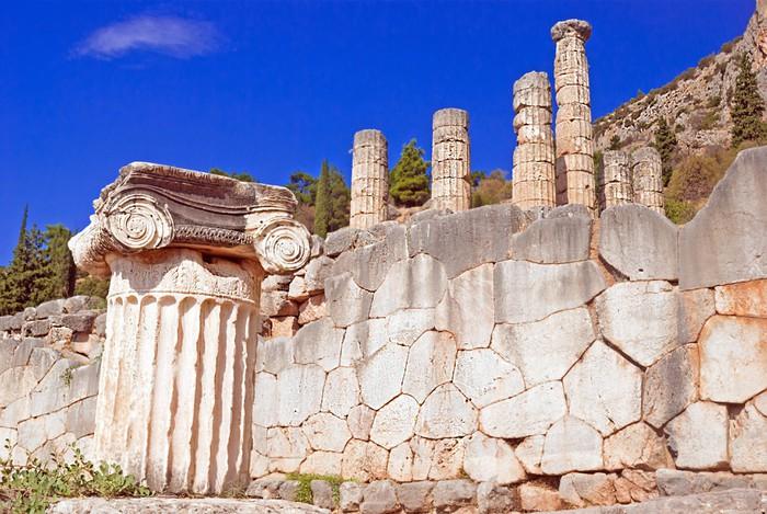 Vinylová Tapeta Jónské sloupec Capital, architektonický detail na ostrově Delos, Řecko - Evropa