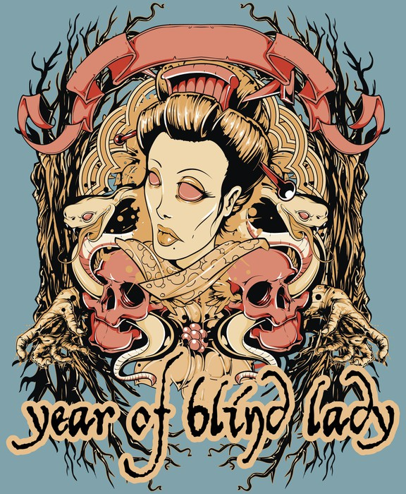 Year Of Blind Lady Wall Mural Pixers We Live To Change