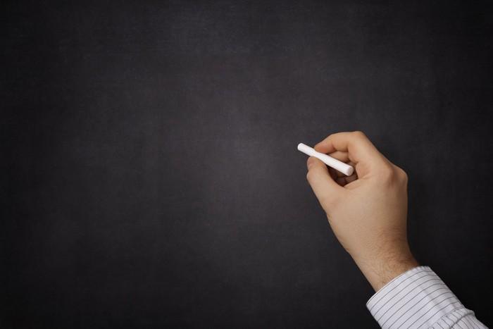 Nálepka Pixerstick Ruční psaní na tabuli - Vzdělávání