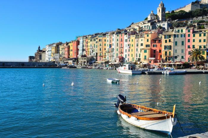 Vinylová Tapeta Portovenere, Itálie a jeho barevné domy - Evropa