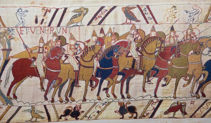 Nálepka Pixerstick Bayeux tapiserie - Norman invaze Anglie - Evropa