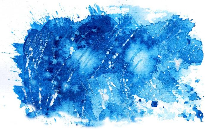 Fototapete aquarell blau textur pixers wir leben um - Fototapete blau ...