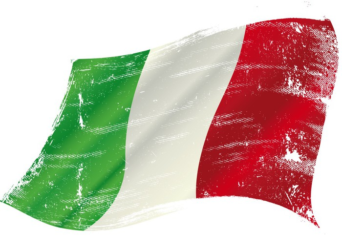 Vinylová Tapeta Italská vlajka grunge - Evropa