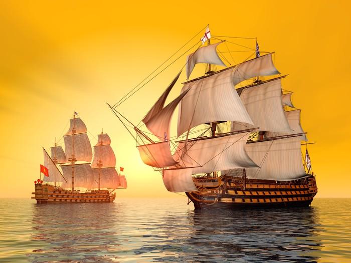 Vinyltapete Die Schlacht von Trafalgar - Kriminalität und Gewalt