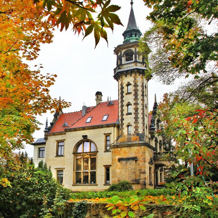 Vinylová Tapeta Krásné elegantní zámek, Dresden, Geramny - Evropa