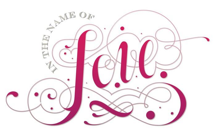 Vinylová Tapeta Love vlastní typografii - Osud