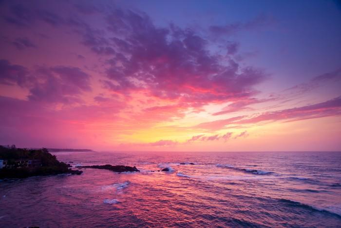 Vinylová Tapeta Oceánu na západ slunce. - Příroda a divočina