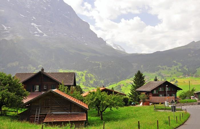 Papel pintado paisaje suizo pixers vivimos para cambiar - Papeles pintados paisajes ...