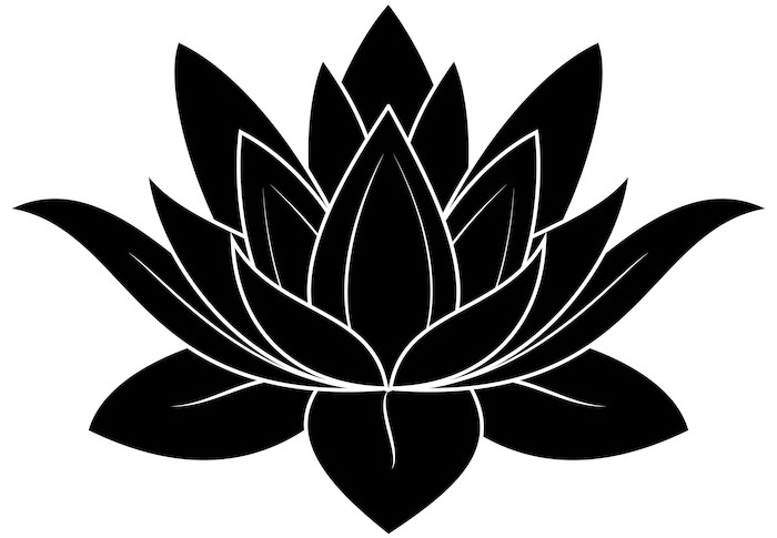 Lotus Silhouette Wall Mural Pixers 174 We Live To Change