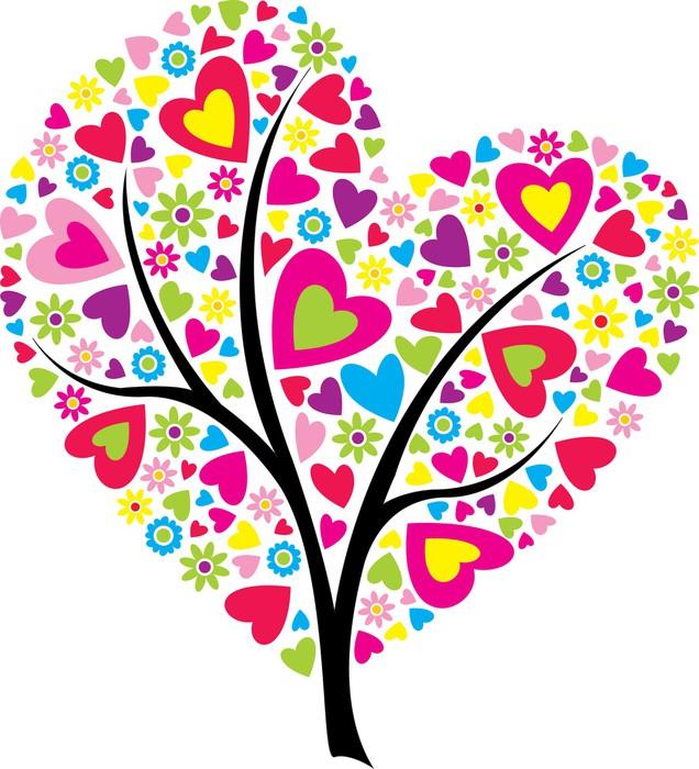 Vinylová Tapeta Valentýnský strom - Mezinárodní svátky