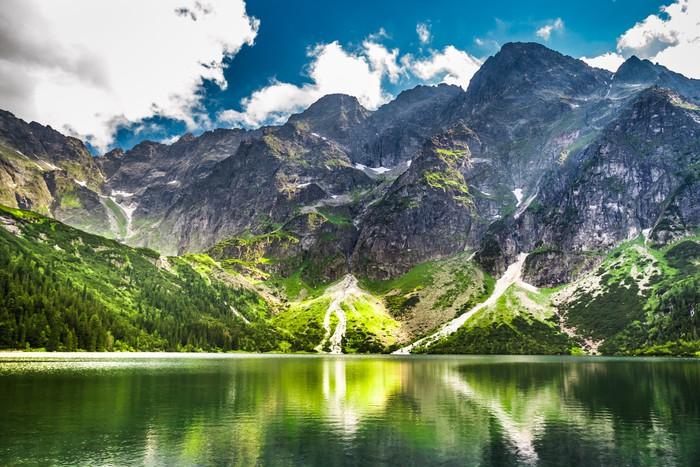 Vinylová Tapeta Skalisté hory v létě a modrou oblohu - Témata