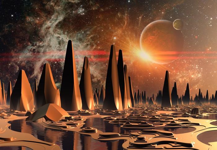 Vinylová Tapeta Alien Planet - Příroda a divočina