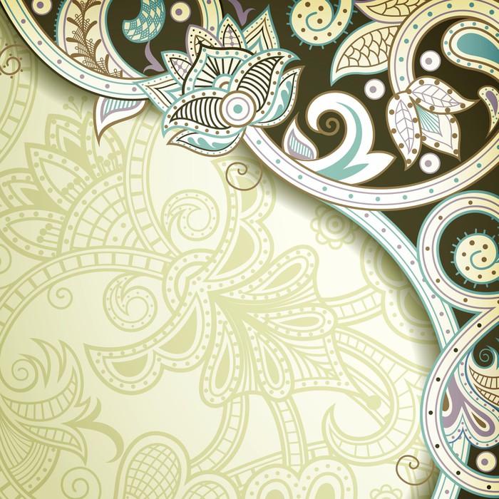 Vinylová Tapeta Abstraktní květinové vzory Corner - Pozadí