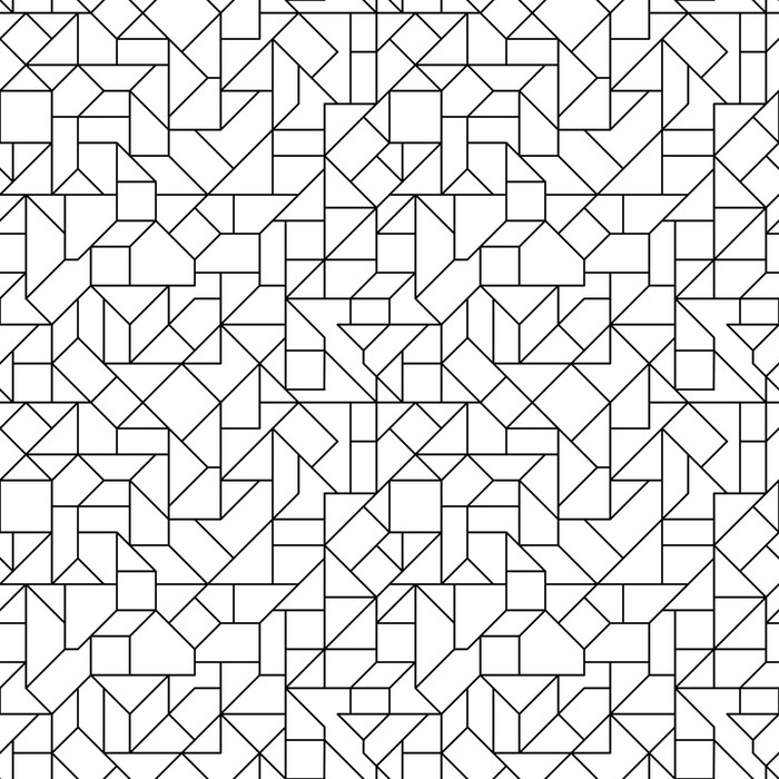 Seamless Circuit Background Wall Mural - Vinyl - Backgrounds