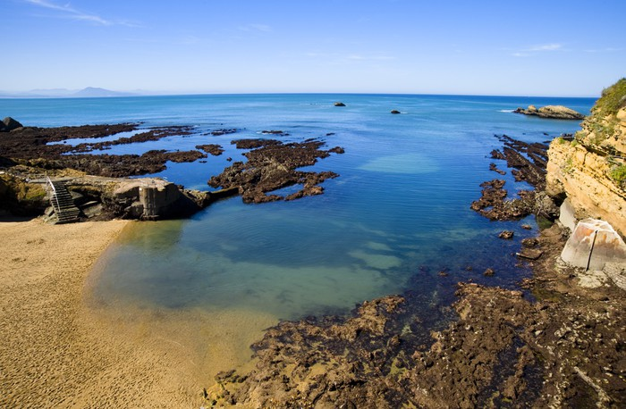 Vinylová Tapeta Biarritz pobřeží - Prázdniny