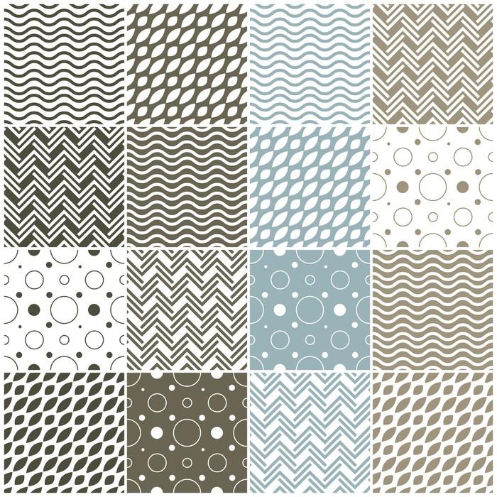 Vinylová Tapeta Geometrické vzory bezešvé: puntíky, vlny šípové - Pozadí